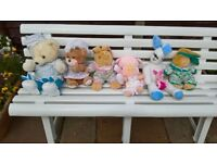 Collection of cuddly soft toys