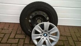 BMW 3 Series steel wheels and snow tyres.