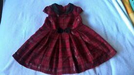 Girls tartan dress 18-24 months