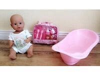 Peterkin Baby Doll with Toy Bath and other accessories