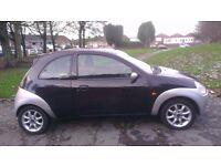Ford Ka 1.3 Zetec Climate mileage 44370 3dr silver & black clean in/out with any rust well drive