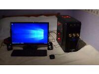 ADVENT WiNDOW 10, i7 QUAD CORE GAMEiNG PC