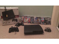 Playstation 3 160GB Bundle with 2 controllers and games