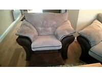 Large 3 Piece Sofa with single Recliner