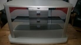Good TV Stand for sale - silver in colour