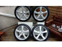 17inch CALIBRE ALLOY WHEELS with 225 45 17 TYRES