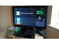 Xbox one 500gb with Kinect and 10 Games! Includes the original box!