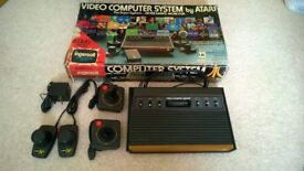 ATARI 2600 in original box + paddle controllers