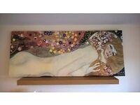 Unusual, Colourful Canvas Print - Gustav Klimt - For Sale