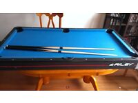 FREE Rileys table top pool table (with cues no balls)