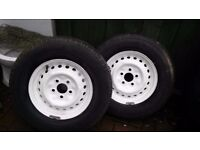 Wheels and tyres 185 x14c VW camper