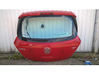 vauxhall corsa D 3 door hatch tale gate flame red few scratches