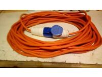 Electrical hook up power supply cable