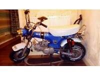 monkeybike 50 with new stomp 140 engine swap bigger bike why