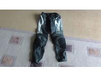 Hein Gericke Pro Sports leather motorbike trousers 34 UK