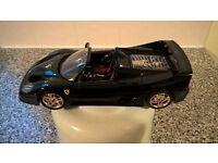 Burago 1:18 Scale Ferrari F50 black and gold model car