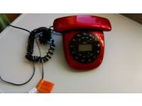 IDECT 10H4618 Carrera Corded Red Telephone - Single