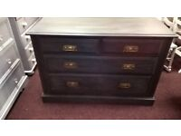 2 over 2 dawer chest..Edwardian hand painted