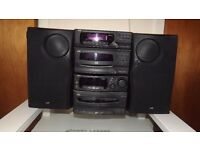 JVC hi-fi system with speakers