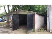 Concrete garage panel metel roof panel