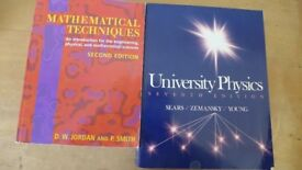 Two university books for a student taking a mathematical sciences / engineering / physics course.