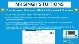 MR SINGHS Maths GCSE & A-LEVEL + Physics A-LEVEL Tuition