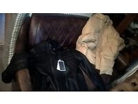 I sell or swap :sofa +leather jacket+second hand winter jacket.