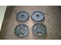 4 x 5kg Cast Iron Weight Plates