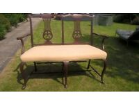 Original Edwardian Hall Style Seat-Excellent Condition