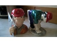 A pair of Rare collectible Novelty Elliott Builders Mugs, Highly collectible and sought after