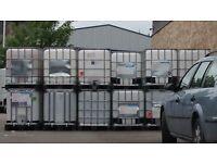 600 Litre IBC Bulk Liquid Storage Containers, Good Condition