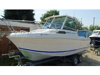 WANTED merry fisher or similar fishing boat 18 -22ft outboard to suit cash waiting