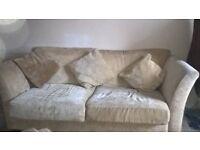FREE- Cream fabric sofa