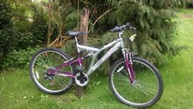 ammaco full suspension alloy 21 speed,18 in frame,runs perfectly