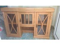 Oak dresser top/cabinet/cupboard