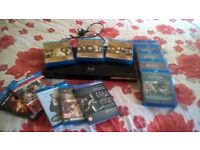 Joblot of Blu ray boxset Films with a Samsung Smart network Blu ray player with remote control