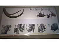 Royal Mail Ice Age Mammals Presentation Pack Of Five Mint Stamps