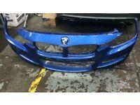 BMW F30 3 SERIES M SPORT FRONT BUMPER BLUE GENUINE BMW PART
