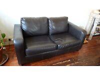 Sofa - Two Seater - Dark Brown