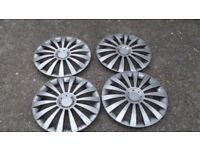 "Silver 16"" Wheel Trims in Excellent Condition - Set of 4"