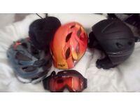 Various helmets