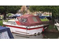 Twin engine off shore cruiser ideal for fishing in sea or river as has a large aft deck area
