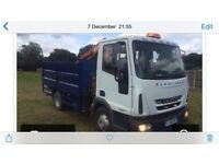 7.5 tonne Ford Iveco tipper with hiab. 2006