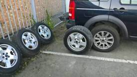 Land rover discovery alloy wheels and tyres