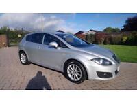 SEAT LEON 1.6 CR TDI SE COPA 5d 103 BHP (silver) 2012