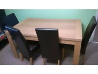 Large wooden dinning table 75/90/150