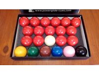 SET OF SNOOKER BALLS FULL SIZE