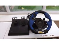 play station steering wheel set with pedals