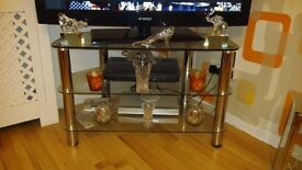 Quick Sale Glass TV unit & Glass Coffee Table £25 Each