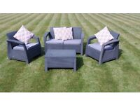Garden Furniture Set and Cushions